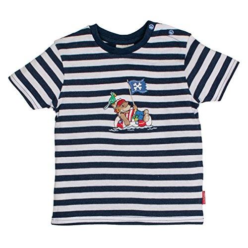 SALT AND PEPPER Baby-Jungen B T-Shirt Pirat Stripe, Blau (Blue Melange 448), 86 (Shirt Bar Stripe)
