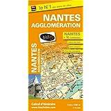 Plan de la ville de Nantes et de son agglomération (inclus : Fougères, Vitré, Redon) - Echelle : 1/14 000, avec index - Localisation des stations Bicloo