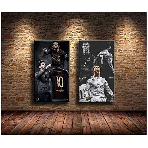 Lionel Messi, Cristiano Ronaldo Pinturas Impresión