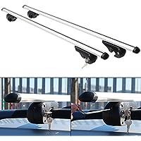 Hardcastle Barres en aluminium aérodynamiques, verrouillables et antivol pour toit de voiture