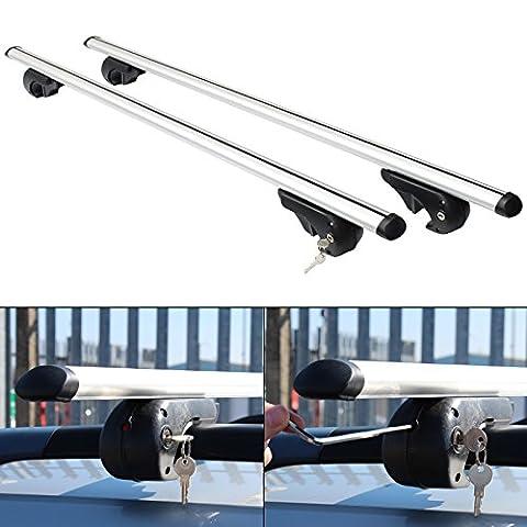 Barre De Toit Universelle - Hardcastle Barres en aluminium aérodynamiques, verrouillables et
