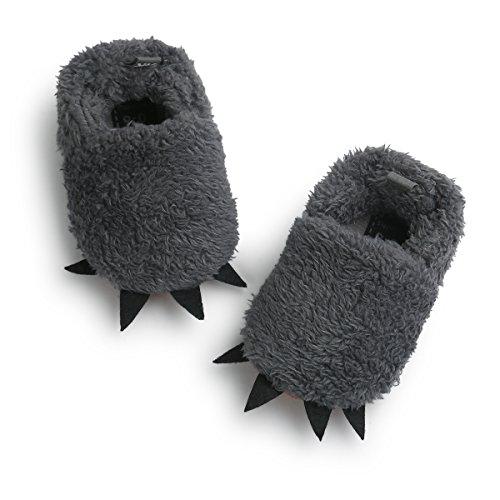 Butterme Unisex Baby Winter Warm Soft Plüsch Krippe Schuhe Hausschuhe Prewalker Anti-Rutsch Soft Sole 0-6 Monate (Flip Flops Baby)