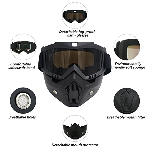 Zoom IMG-2 tedgem maschera per snowboard sci