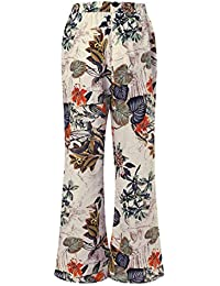 f75bccc6f4 Barlingrock Womens Plus Size Vintage Baggy Yoga Long Trousers Casual Floral  Flared Pants