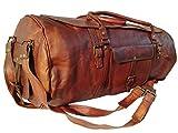 groß Leder Reisetasche - Carry On Vintage Umhängetasche Seesack Weekender Tasche für Herren und Damen (Braun)