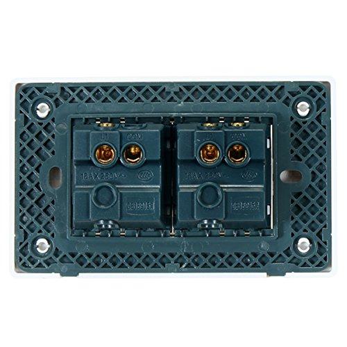 MYAMIA 110-250V Ac Langlebig 118Type Brasilien Chile 1/2 Gang Standardwand Wechseln Elfenbein Weiß Lichtschalter Für LED-Taste Switch-B -