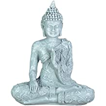Zen Buda estatuilla Meditación Luz SBM1 1 Piedra Gris 10 x 5 x 12 cm