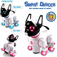 Designergearint® Robot Dog Cat Electronic Pet Adorable Smart Dancer Dog With Barking, Walking, Standing, Music Playing, Wagging Tail & Flashing Lights Toy for Kids, Boys & Girls - Compare prices on radiocontrollers.eu