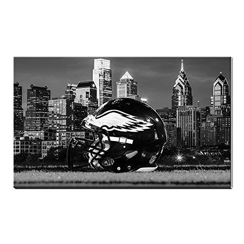 NFL Philadelphia Eagles Football Sports Artist Art Landscape Poster Ölgemälde Giclée-Leinwand Baumwolle Drucke Bild Wand Acryl Kunstwerk Home Decor Geschenk 28x40inch (Football Bilder Nfl)
