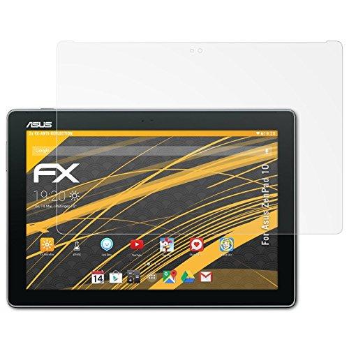 atFolix Panzerfolie kompatibel mit Asus ZenPad 10 Schutzfolie, entspiegelnde & stoßdämpfende FX Folie (2X)