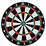 Higadget™ Wooden Double Faced Portable Dart Game, High Quality Original Dart Game With 6 Colourful Darts, Strong Wooden Dart Board And Solid Darts Stick ( 17 Inch Big Size )