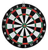 #10: higadget Wooden Double Faced Portable Dart Game, High Quality Original Dart Game with 6 Colourful Darts, Strong Wooden Dart Board and Solid Darts Stick ( 17 inch Big Size )