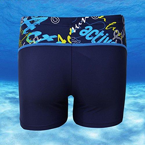 Uomo Traspirante Quick Dry Pantaloni di Nuoto Pantaloncino Costume da Bagno Blu marino