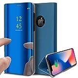 Coque iPhone XR,Surakey Clear View Miroir Flip Case Translucide Portefeuille Housse...