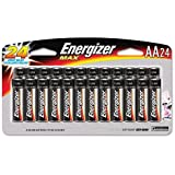 EVEREADY BATTERY MAX Alkaline Batteries, AA, 24 Batteries/Pack (E91SBP24H)