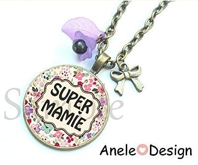 Collier Cadeau Super Mamie