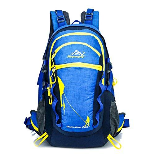 Outdoor Faltbar Rucksack Camping Reise Bergsteigen Tasche Wandern Knapsack Blue
