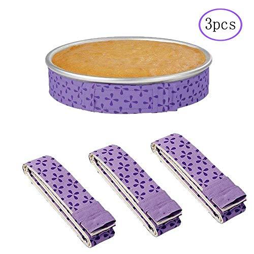 DSTong Cake Strip Bake Even Strip 3er Pack, Kuchenformstreifen, super saugfähige, Dicke Baumwollkuchenstreifen zum Backen
