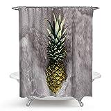 SonMo Duschvorhang Ananas Polyester Stil 3 Wasserdicht Anti-Schimmel Anti-Bakteriellbadezimmer Vorhänge mit Duschvorhangringen 150×180CM