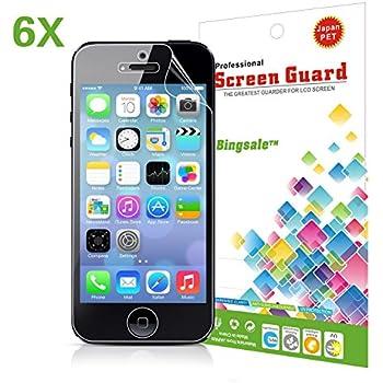 iPhone 5s schutzfolie,6 x Bingsale Ultra Clear Displayschutzfolie apple iphone 5S 5C 5 Displayschutz Schutzfolie Folie