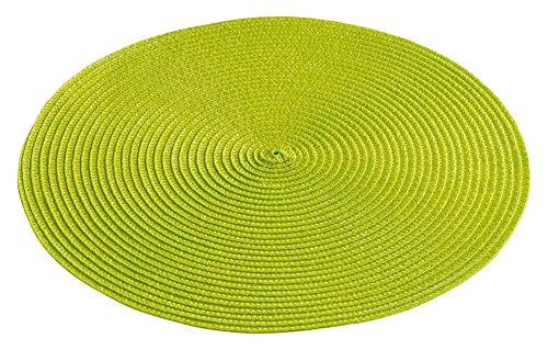 décor line ZEBULON Set de table Plastique Anis 35 x 35 cm