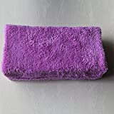 BEESCLOVER 6-teiliges Mikrofaser-Reinigungsschwamm für Autos, Wachstuch, Reinigungstücher, violett, 6 Stück