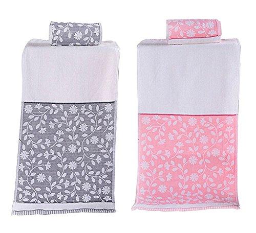 Satz von 2 Schöne Blatt-Muster Handtücher Bad Waschlappen Dish Rags Bad Dish