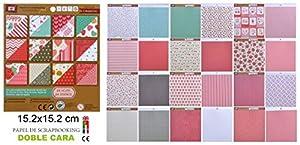 Disok- Block 24 Papeles Doble Cara, Multicolor (9687)