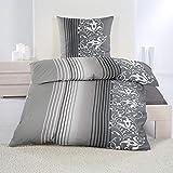 dicht gewebte Baumwolle Feinbiber Winter Bettwäsche 135x200 + 80x80 Kissenbezug Warm Biber, Design - Motiv:Design 4, Größe:135 x 200 cm
