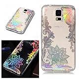 E-Mandala Samsung Galaxy S3 Hülle Ultra Dünn Slim Durchsichtig Silikon Schutzhülle Handy Tasche Etui Handyhülle Transparent mit Muster - Spitze Blumen Lace Flower