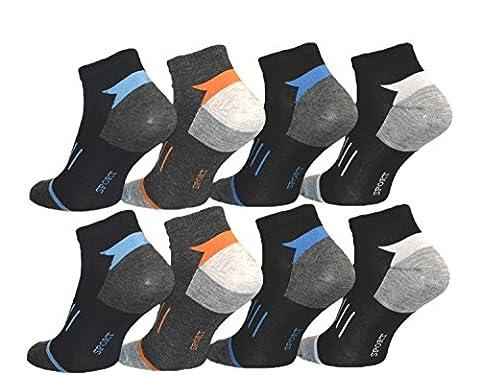 Lot de 12paires de socquettes courtes de sport en coton 39-42 ; 43-46 - multicolore - 43/46