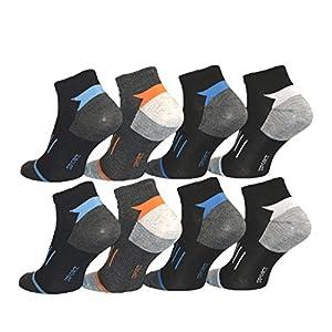 BestSale247 12 Paar Herren Sneaker Socken Füßlinge Kurzsocken Baumwolle 39-42 ; 43-46