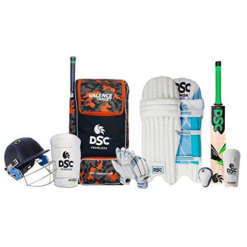 DSC Premium Complete Kit with Helmet Cricket Kit Size 3