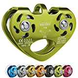 ALPIDEX Seilrolle Tandem Pulley Power 2.0 Tandemrolle Umlenkrolle, Farbe:lime