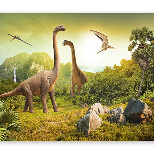 murando Papier peint intissé 350x256 cm Décoration Murale XXL Poster Tableaux Muraux Tapisserie Photo Trompe l'oeil enfants dinosaure animaux 10110902-10