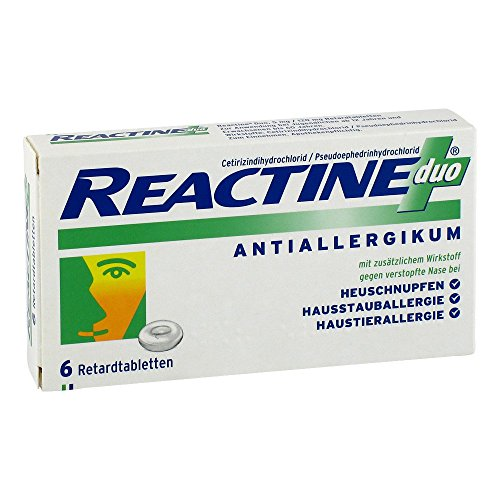 Reactine duo 6 stk