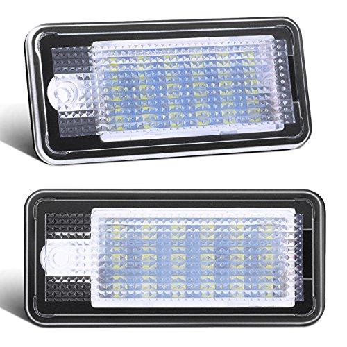 Preisvergleich Produktbild AMBOTHER LED Kennzeichenbeleuchtung,  Auto Nummernschildbeleuchtung Kennzeichenlicht Nummernschilder Licht A4 / S4 / RS4 / A5 / A6