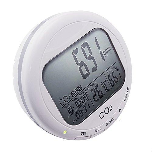 Kohlendioxid-Detektor Temperatur Feuchtigkeit RH Desktop Indoor Luftqualität Monitor CO2 Meter - Link-20-batterie-monitor