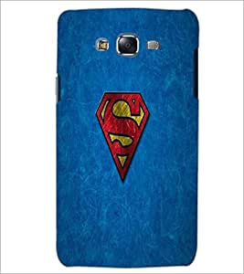 PrintDhaba Superman Logo D-2307 Back Case Cover for SAMSUNG GALAXY ON 5 (Multi-Coloured)