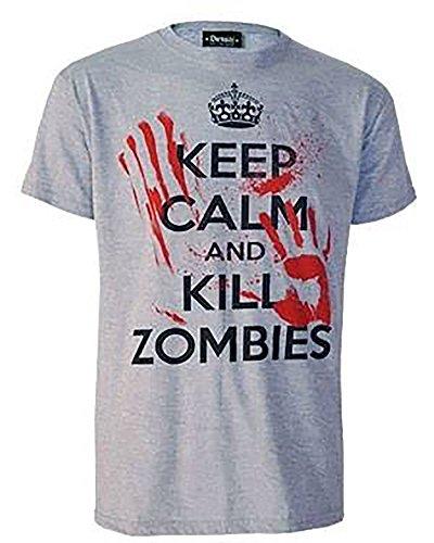Darkside – Keep Calm And Kill Zombies T-Shirt verschiedene Farbvariationen Grau