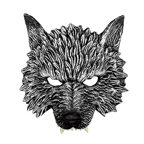Halloween Maske Kreative 3D Wolf Scary Party Maske Kostüm Maske für Karneval (Wolf Scary Kostüme)