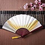 Ventilatore tenuto in mano personale Belle piume indipendenti con telaio in bambù Ciondolo con nappa e borsa in stoffa Ventilatori per bambini cinesi Ventagli a mano economici Decorazione cinese per