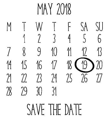 Calendrier Personnalise - Laser personnalisée Tampon en caoutchouc–Save the Date: