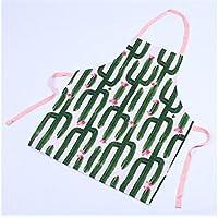 Multifuncional Creatividad Moda Unisex Verde Cactus Impreso Durable Hermoso Halter Delantal para barbacoa al aire libre