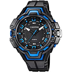 CALYPSO Herren-Armbanduhr Sport analog Quarz-Uhr PU schwarz D1UK5687/1