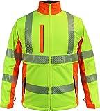 normani Winter Softshell-Warnschutzjacke Arbeitsjacke oder Weste 8000 mm Wassersäule Farbe Neongelb/Warnorange Größe 2XL