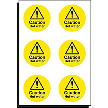 Terrific Caution Hot Water Safety Sign Self Adhesive Sticker 100Mm Download Free Architecture Designs Scobabritishbridgeorg