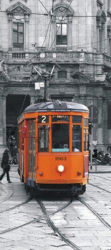 Ag design, stampa fotografica decorativa da parete, motivo: tram, multicolore (bunt)
