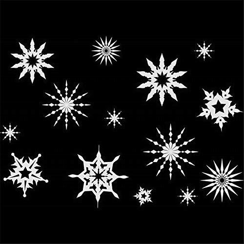 wandaufkleber 3d schlafzimmer Schneeflocke der frohen Weihnachten Bibel-Vers-Schrift-frommes Zitat