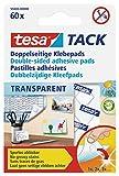 Tesa Tack Doppelseitige Klebepads transparent, 60 Pads